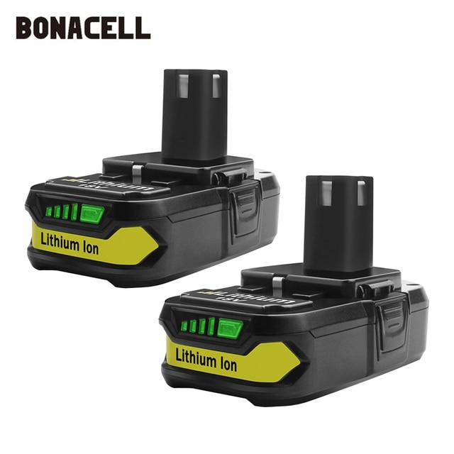 Bonacell 18V 3000mAh P107 Batterie Ersatz für Ryobi P104 P105 P102 P103 P107 Cordless Li Ion Batterie L50