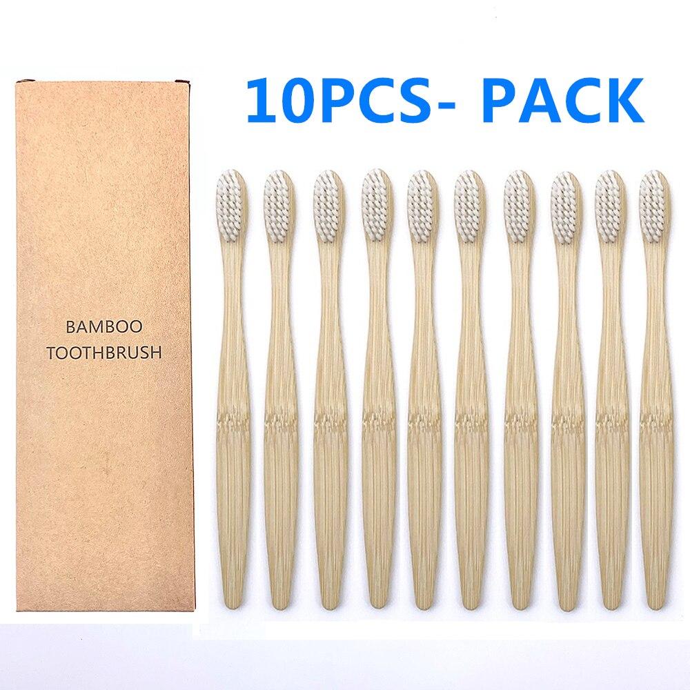 10 шт./упаковка, биоразлагаемые зубные щётки