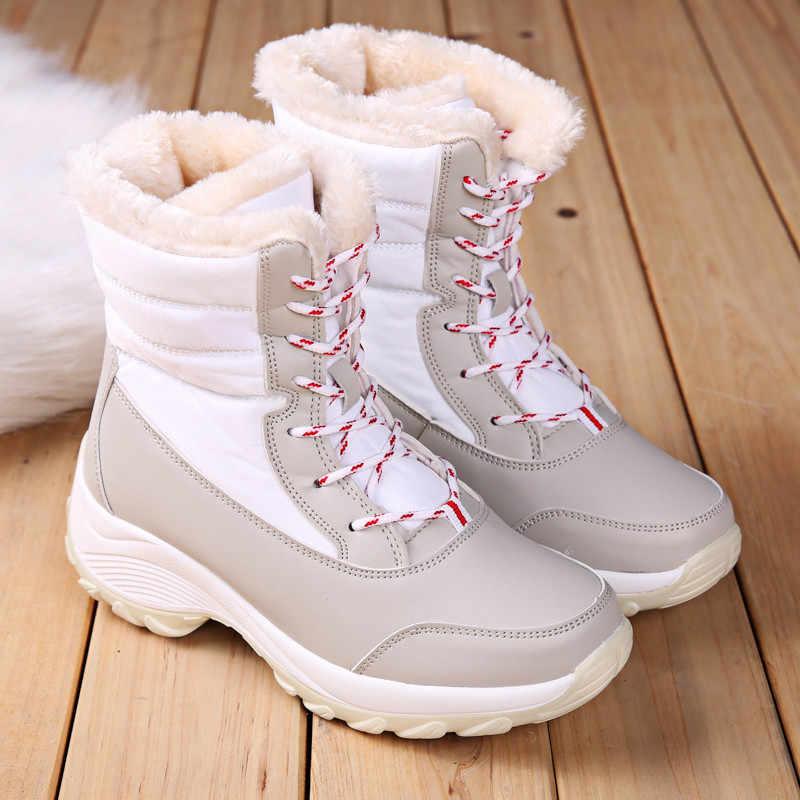 ASUMER 2020 yeni kış kar botları kadın yuvarlak ayak lace up bayanlar yarım çizmeler karışık renkler sıcak tutmak platformu çizmeler büyük boyutu