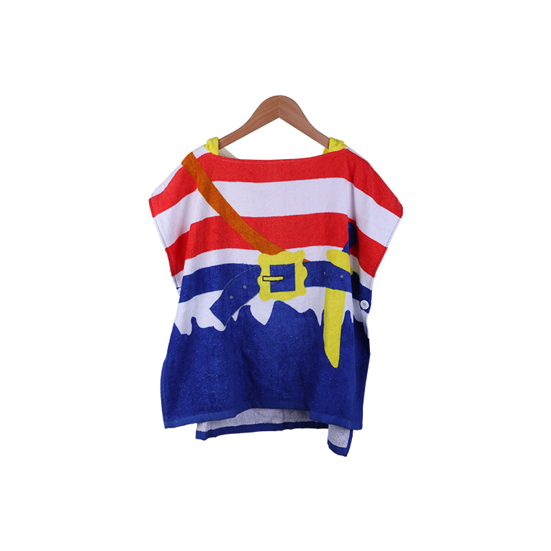 Pure Cotton Infant Children Hooded Mantle Cloak Cartoon Infant Bath Towel For Children Mantle With Cap