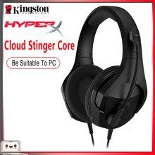 100% Kingston HyperX Wolke Stinger Core Kopfhörer Wired Gaming Computer Kopfhörer PC/PS4/Xbox One/Mobile/nintendo Schalter Headset