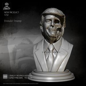 H55MM Resin Bust Kits Donald Trump Figure Model Self-assembled TD-2234