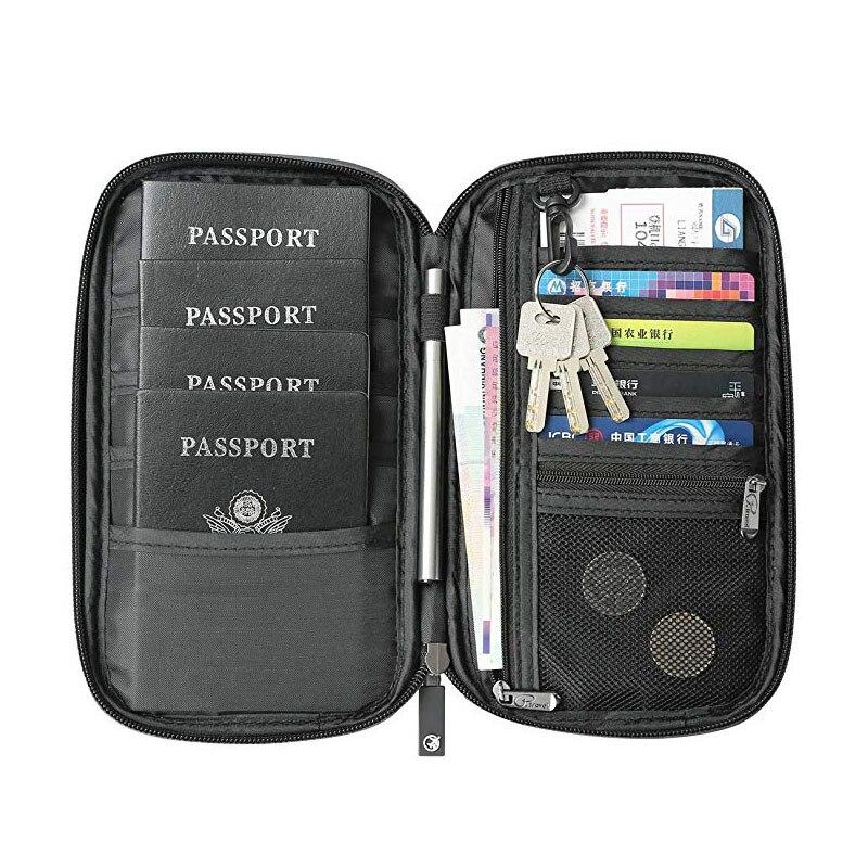 Gili Lined Up Penguins Travel Passport /& Document Organizer Zipper Case