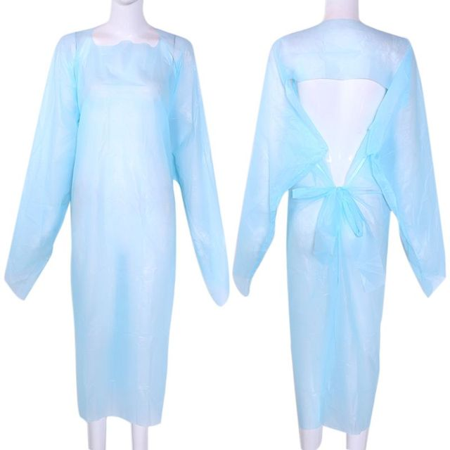 Disposable Clothes Waterproof Gown Dustproof  Raincoat Rainproof PPE Anti Dirty Anti-Viruses Unisex Protective Suit 1