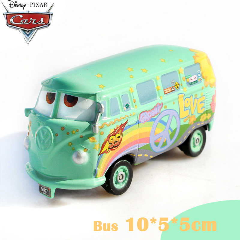Genuine Disney Cars Pixar Cars Bus Peace And Love Fillmore