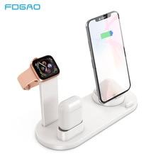 FDGAO ชาร์จแท่นวางแท่นวางสำหรับ iPhone 11 Pro X XR XS สูงสุด 8 7 6S สำหรับ apple นาฬิกา Series Airpods USB Charger