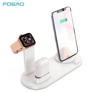 Image 1 - Fdgao suporte dock station para carregamento, suporte para iphone 11, pro, x, xr, xs, max, 8, 7, 6s carregador usb de airpods da série apple, relógio
