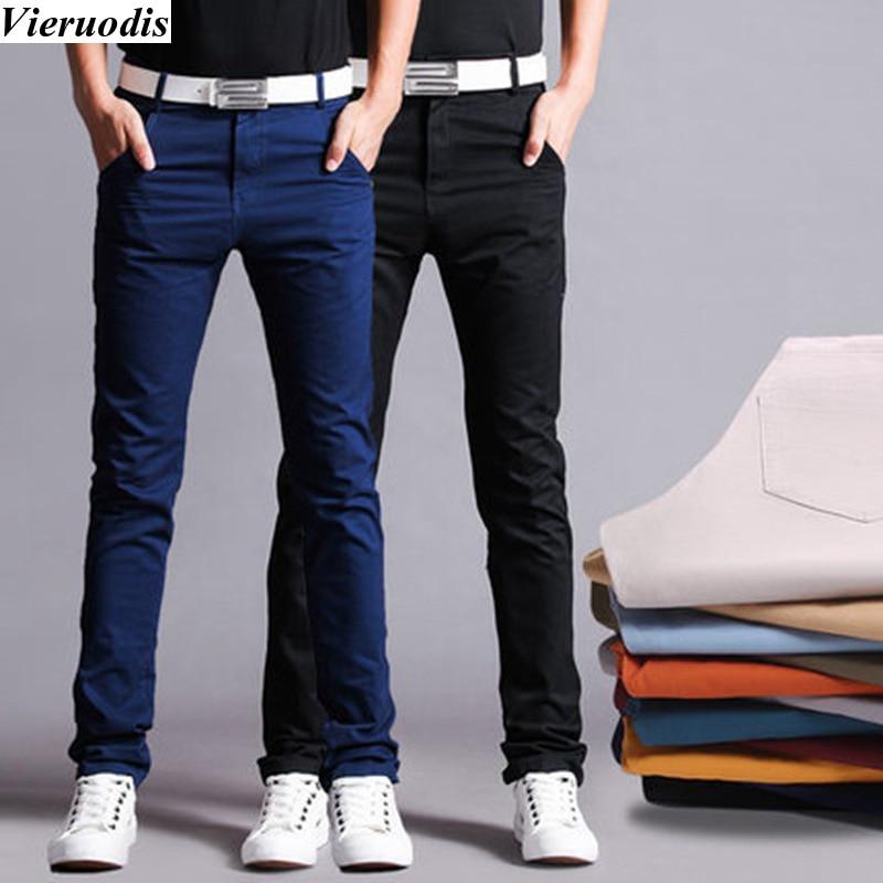 Nuevos Pantalones De Lona Informales Para Hombre Pantalones Rectos Ajustados Para Hombre Pantalones Largos Multicolores Pantalones De Vestir Ropa Para Hombre Pantalones De Chandal Aliexpress