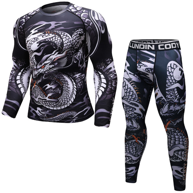 Running Shirt Men MMA Sport T Shirt Gym Shirt Men Compression Tight Fitness Top Bodybuilding Tshirt Rashgard Soccer Jersey