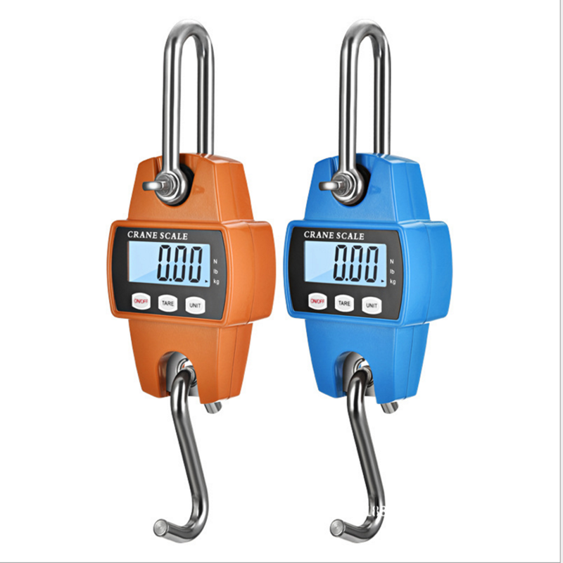 New 150kg <font><b>200kg</b></font> 300kg 500kg LCD <font><b>Digital</b></font> Luggage <font><b>Scale</b></font> Heavy Duty Hanging Hook <font><b>Scales</b></font> Portable <font><b>Digital</b></font> Stainless Steel 40% off image
