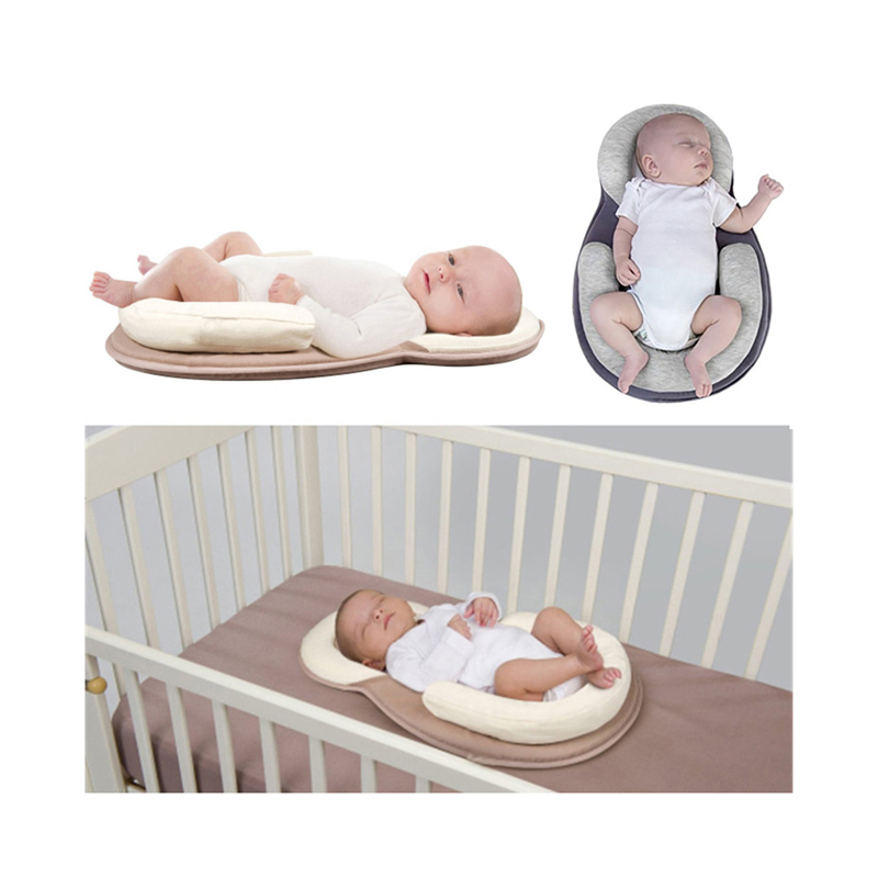 Anti Flat Head Baby Pillow Newborn Baby Sleep Positioning Pad Anti Roll Baby Head Shaping Pillows Infant Sleep Mattress-in Pillow from Mother & Kids