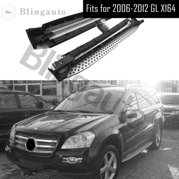Running board fits for Mer-cedes Be-nz GL X164 series GL320,GL350 2006-2012 Aluminium side Nerf step bar car pedal protector