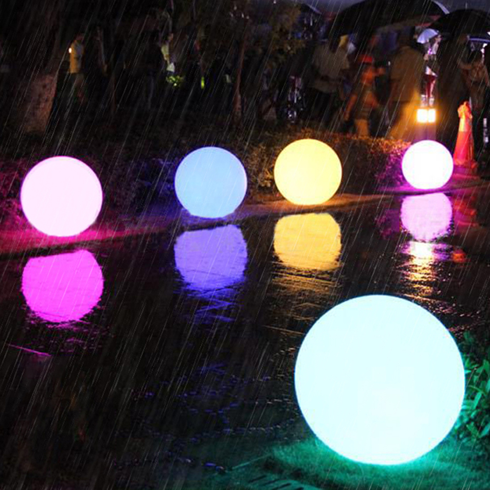 Rechargeable LED Ball Lamp RGB Waterproof Indoor Outdoor Home Wedding Garden Lawn Swimming Pool KTV Bar Party Decor Oc15