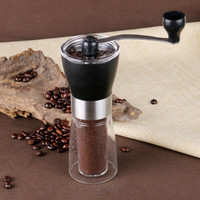 Portable Manual Coffee Grinder Conical Ceramic Burr Grinder For Home Office Travelling Washable Coffee Mill Easy Cleaning|Electric Coffee Grinders| |  -