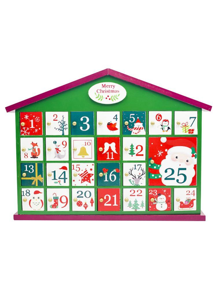 2020 Christmas Candy Countdown Calendar 2020 Christmas Calendar House Decorations Wooden Countdown