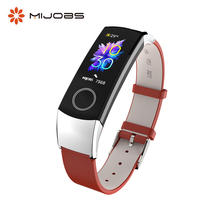 Mijobs Honor Band 5 Strap Leather Bracelet for Huawei Honor Band 4 5 Watch Wrist Straps Smart Accessories Honor Band 4 Wristband