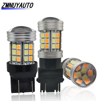 цена на 2PCS 1157 BAY15D P21/5W Led T20 7443 W21/5W Led Bulb Dual Color Car Turn Signal Lamp T25 3157 P27/7W Auto Light White Yellow 12V