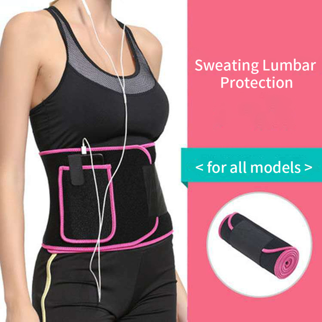 Supporting Sweat Belt Flexible Slimming Waist Trimmer Gym Adjustable Body Shaper Workout Weight Loss Phone Pocket Training 4