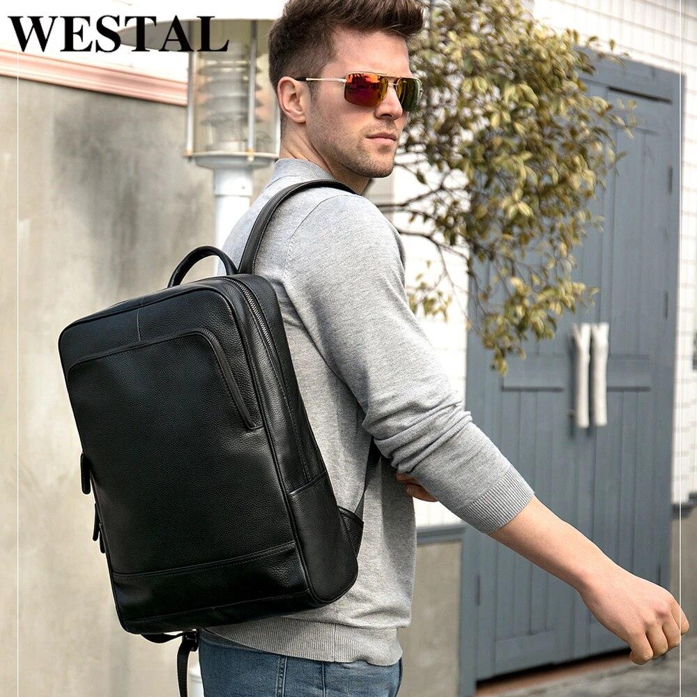 WESTAL 100% Echtem Leder herren Rucksack männer Männliche business tasche  schul mann mode herren rucksäcke für männliche Leder 8110|men backpack|men  business backpackbusiness laptop backpack - AliExpress