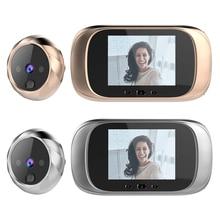DD1 2.8 인치 TFT LCD 화면 디지털 비디오 초인종 0.3MP IR 야간 투시경 도어 틈 구멍 카메라 뷰어 도어 벨 스마트 홈