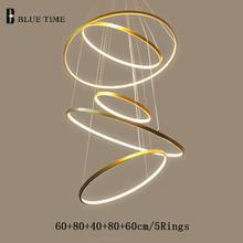 Современная светодиодная люстра 40 60 80 100 см Потолочная с