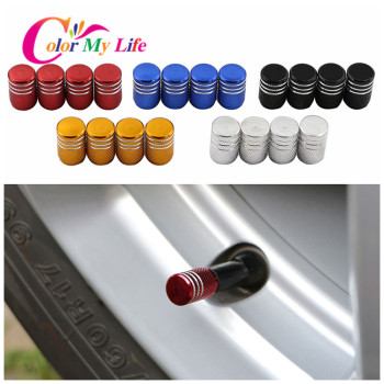 Color My Life 4Pcs/Set Auto Metal Wheel Tire Valve Caps Stem Case Fit for Tesla Model 3 Model3 2017 - 2020 Accessories image