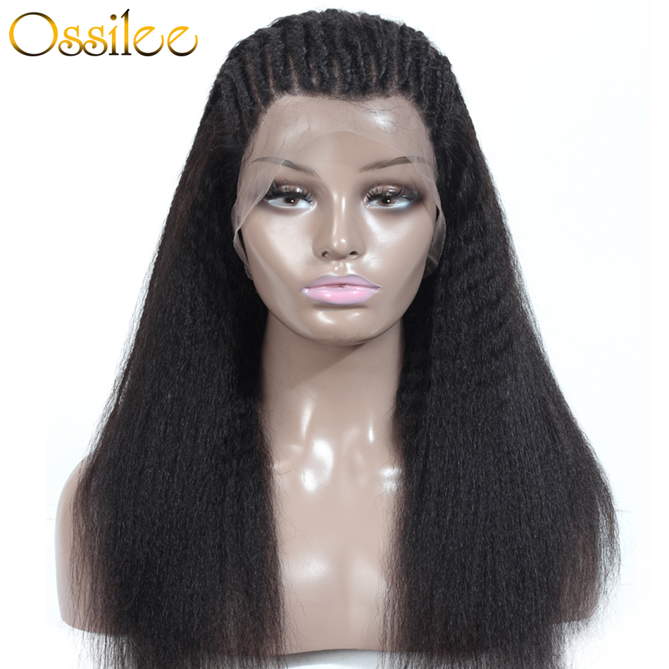 360 Lace Frontal Wig Kinky Straight Wig Lace Frontal Human Hair Wigs Yaki Human Hair Wig Ossilee Remy Hair