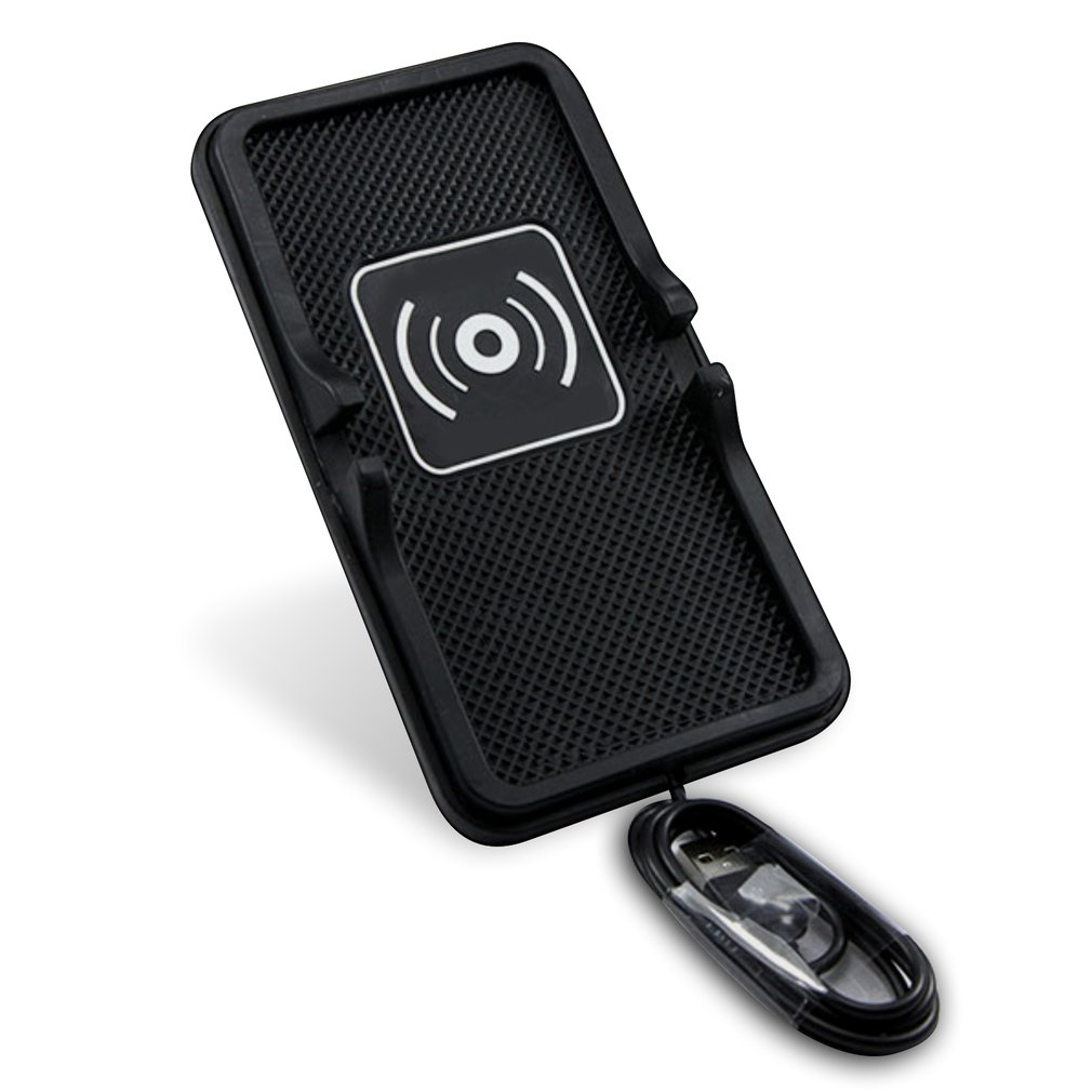C6 Qi Car Wireless Charger Charging Pad Dock for QI-enabled Devices Anti-slip Silicone Mat Mobile Phone Holder Stand