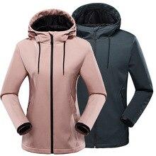 Уличная флисовая мягкая куртка осень зима для мужчин и женщин ветрозащитная Водонепроницаемая теплая куртка с капюшоном Пара Кемпинг Туризм ветровка