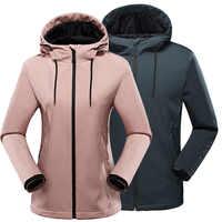 Outdoor Fleece Soft shell jacke Herbst Winter Männer Frauen winddicht wasserdichte warme mit kapuze mantel Paar camping wandern Windjacke