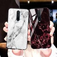 Temperato Caso K30 di vetro di caso per Xiaomi redmi in marmo di lusso Paraurti Xiaomi redmi Nota 8 Pro 7 8T 8A 7A 6A K20 6 Pro 5 Plus Copertine
