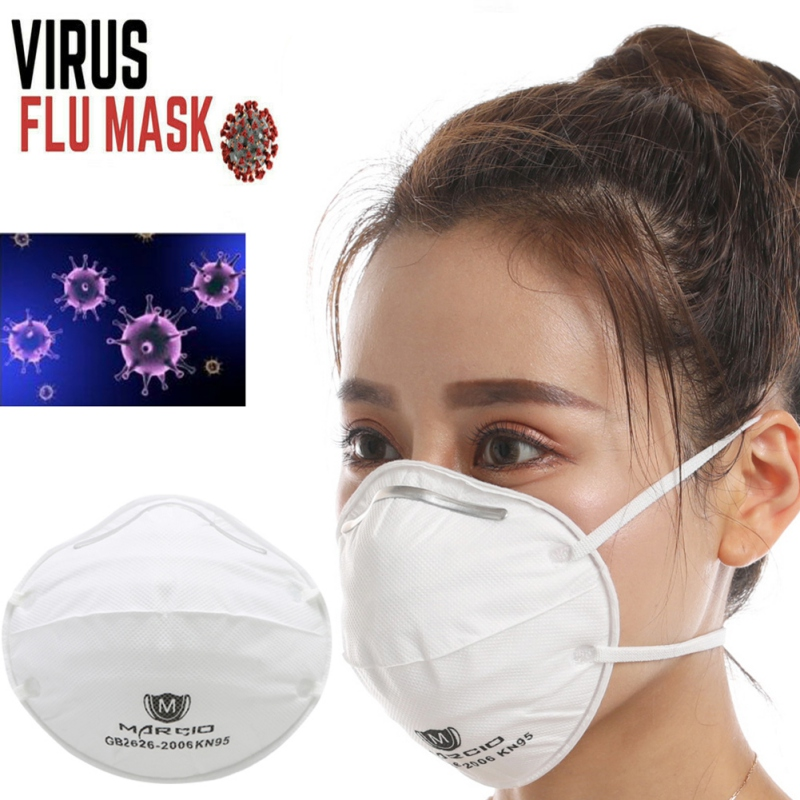 Mask KN95 Cup Mask Anti Flu Face Mask White Adjustable Strip SARS VIRUS Dust Outdoor Mask