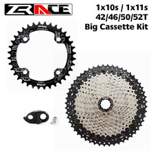 Chainrings zrace 32 t/34 t/36 t/38 t + cassete 42 t/46 t/50 t/52 t, 1x10 velocidade/1x11 grande cassete kit velocidade