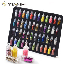 48 Bottles/Set Nail Art Sequins Glitter Powder Manicure Decoral Tips Polish Nail Stickers Mixed Design Case Set 2021