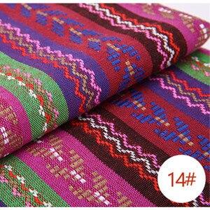 Image 5 - 新しい100X150CMポリエステル/綿生地エスニック装飾織物ソファカバークッション布カーテン22スタイル送料無料