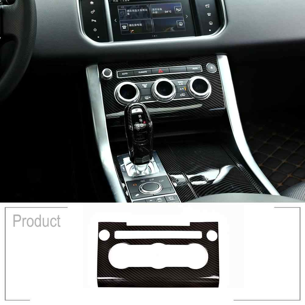 Carbon Fiber Style ABS Plastic Center Console AC Panel Frame Cover Trim For Land Rover Range Rover Sport RR Sport 2014-2017