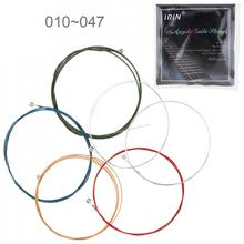 6pcs set Acoustic Flok Guitar String 010-047 Inch Steel Core Colourful Coated Copper Alloy with Nickel-Plated Ball-End cheap NoEnName_Null MEL_MIA_710 Strings