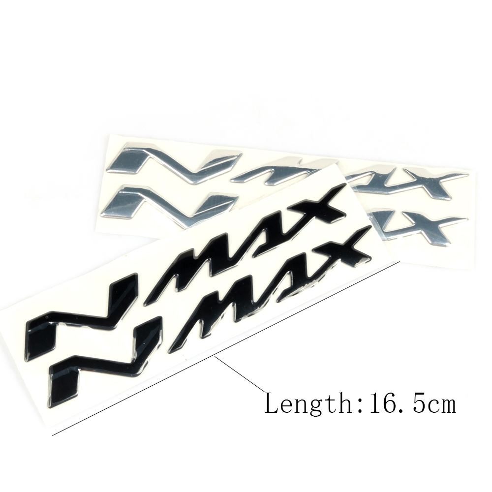 1Pcs Motorcycle N-MAX Logo Chrome Motorcycle 3D <font><b>Stickers</b></font> Tank Decals Applique Emblem For <font><b>YAMAHA</b></font> <font><b>NMAX</b></font> N MAX N-MAX image