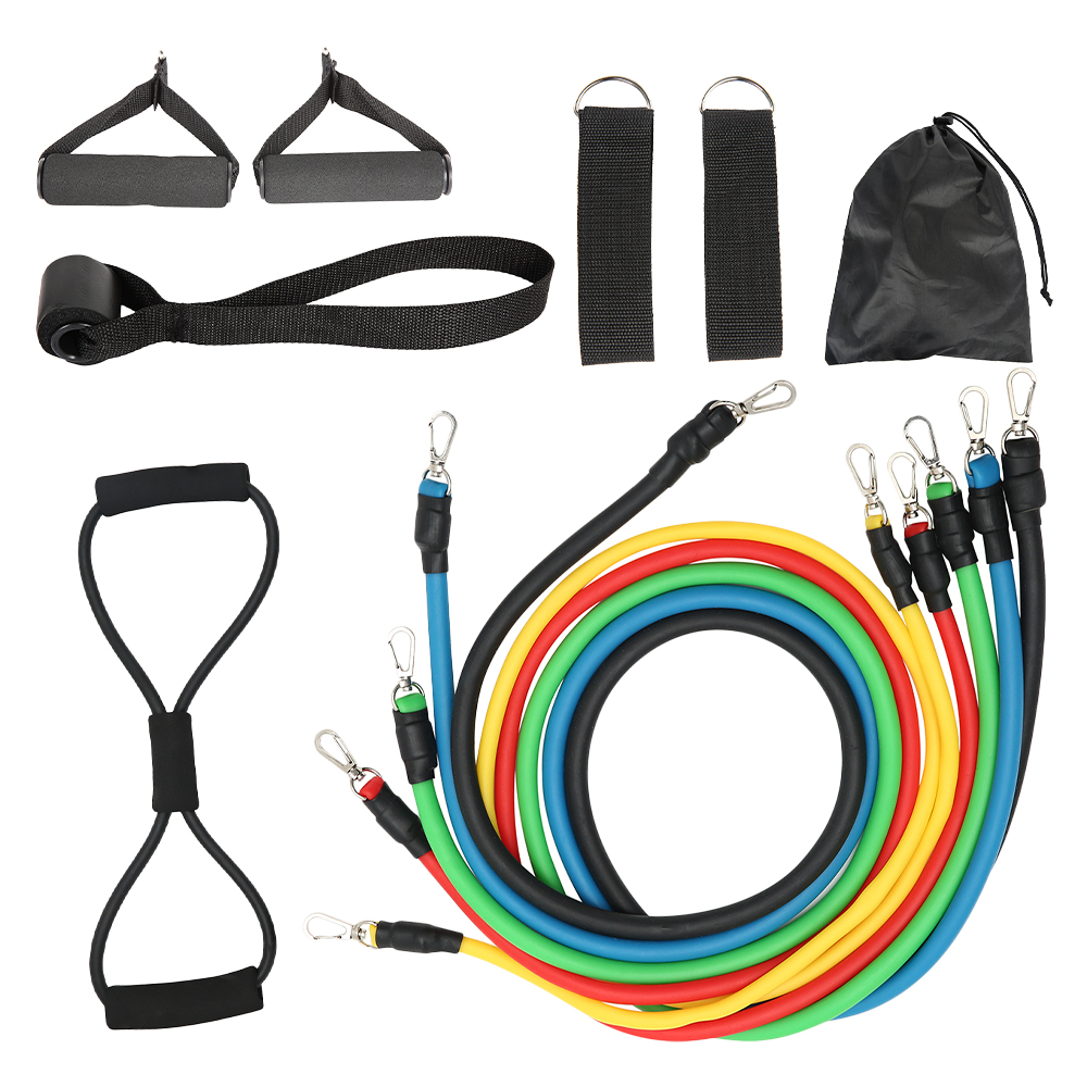 11-13pcs Fitness Resistance Bands 23