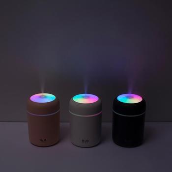 300ml Air Humidifier USB Ultrasonic Aroma Essential Oil Diffuser Romantic Soft Light Humidifier Mini Cool