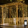 DC30V Led Vorhang Lichter 3x3m Twinkle Lichter Indoor Outdoor dekoration Wand Fenster String Licht Für Party Hochzeit + Adapter-in Lichterketten aus Licht & Beleuchtung bei
