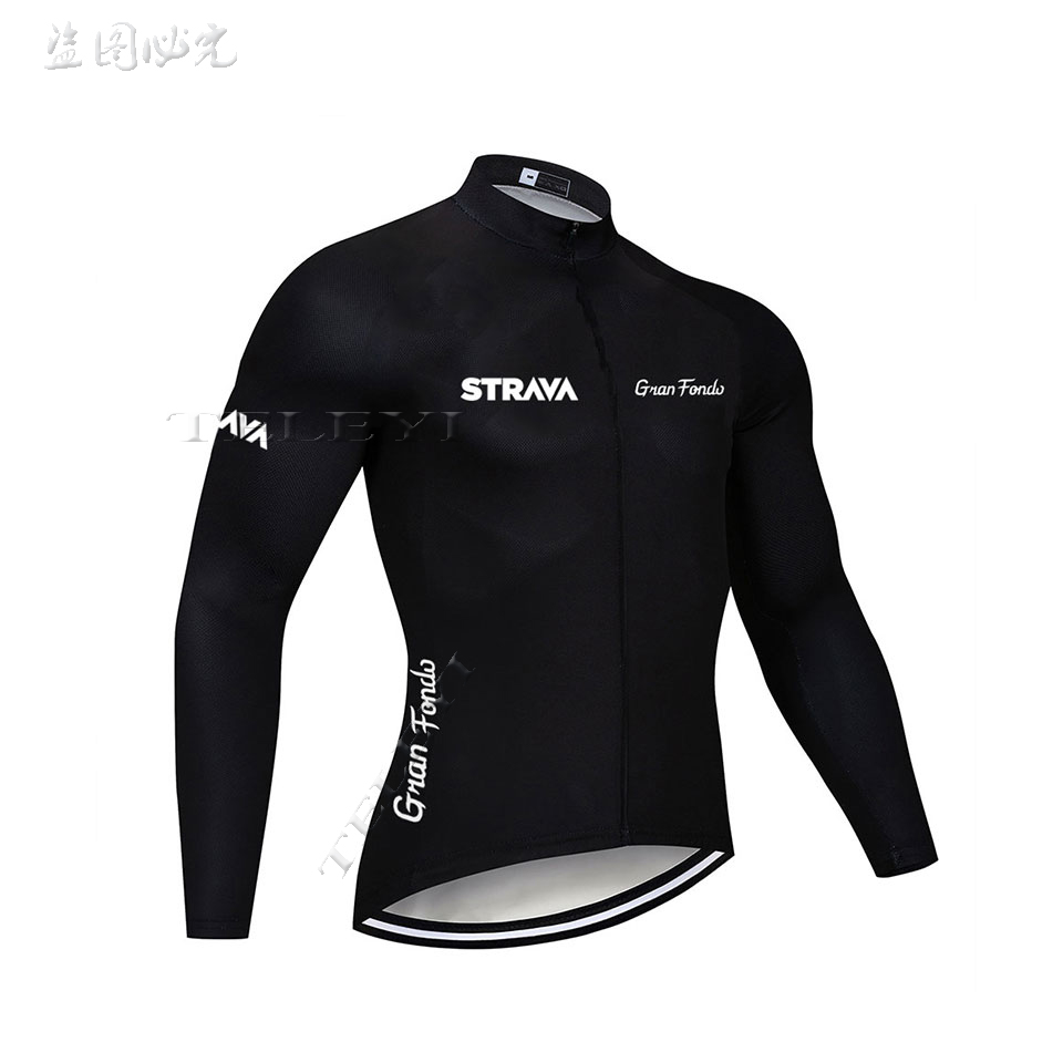 2019 STRAVA Pro Long Sleeve top Cycling Jersey MTB Bike Clothing Wear Autumn Bicycle Clothes men Cycling Clothing