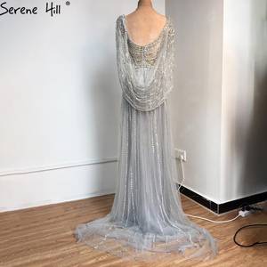 Image 5 - Serene colina sexy champagne vestido de noite, de luxo, com decote em v, 2020 diamantes, sem mangas, formal de festa, cla70301