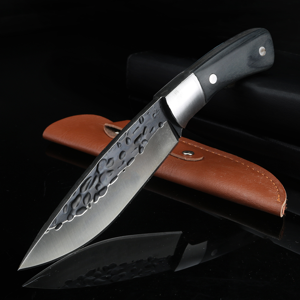 Outdoor Forged Knife Multifunction Knife Fixed Blade Knife High Quality Hunting Knife Wild Survival Straight Knife