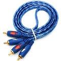 Звуковой кабель 2RCA 1,5/3/5 м, устойчивый к окислению, дизайнерский Штекерный КАБЕЛЬ 2RCA на Штекерный 2RCA для DVD, цифрового плеера, ТВ-приставки RCA ...