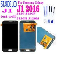 ЖК-дисплей для Samsung Galaxy J1 2016 J120 J120F J120H J120M, ЖК-дисплей с сенсорным экраном и дигитайзером в сборе с возможностью регулировки яркости и ремонта