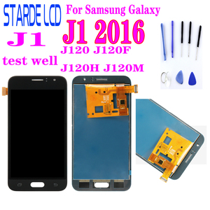 LCD For Samsung Galaxy J1 2016 J120 J120F J120H J120M LCD Display Touch Screen Digitizer Assembly Can Adjust Brightness Repair