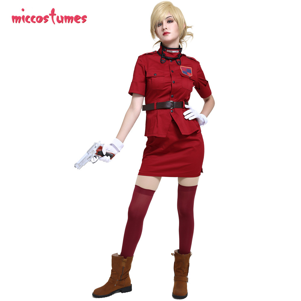 Hellsing Cosplay Seras Victoria Burgundy Red Costume Vampire Demon Uniform