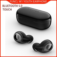 FUNCL W1 Youth bluetooth 5.0 Earphone TWS Touch HiFi Music Wireless Stereo Waterproof for Xiaomi/Samsung OnePlus