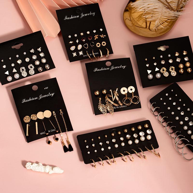 New Vintage Tassel Acrylic Earrings Bohemian Statement Earrings Set Dangle Drop Earing For Women 2020 Brincos Fashion Jewelry